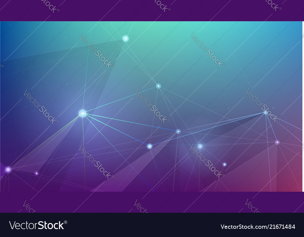 Abstract cyber plexus space concept of network