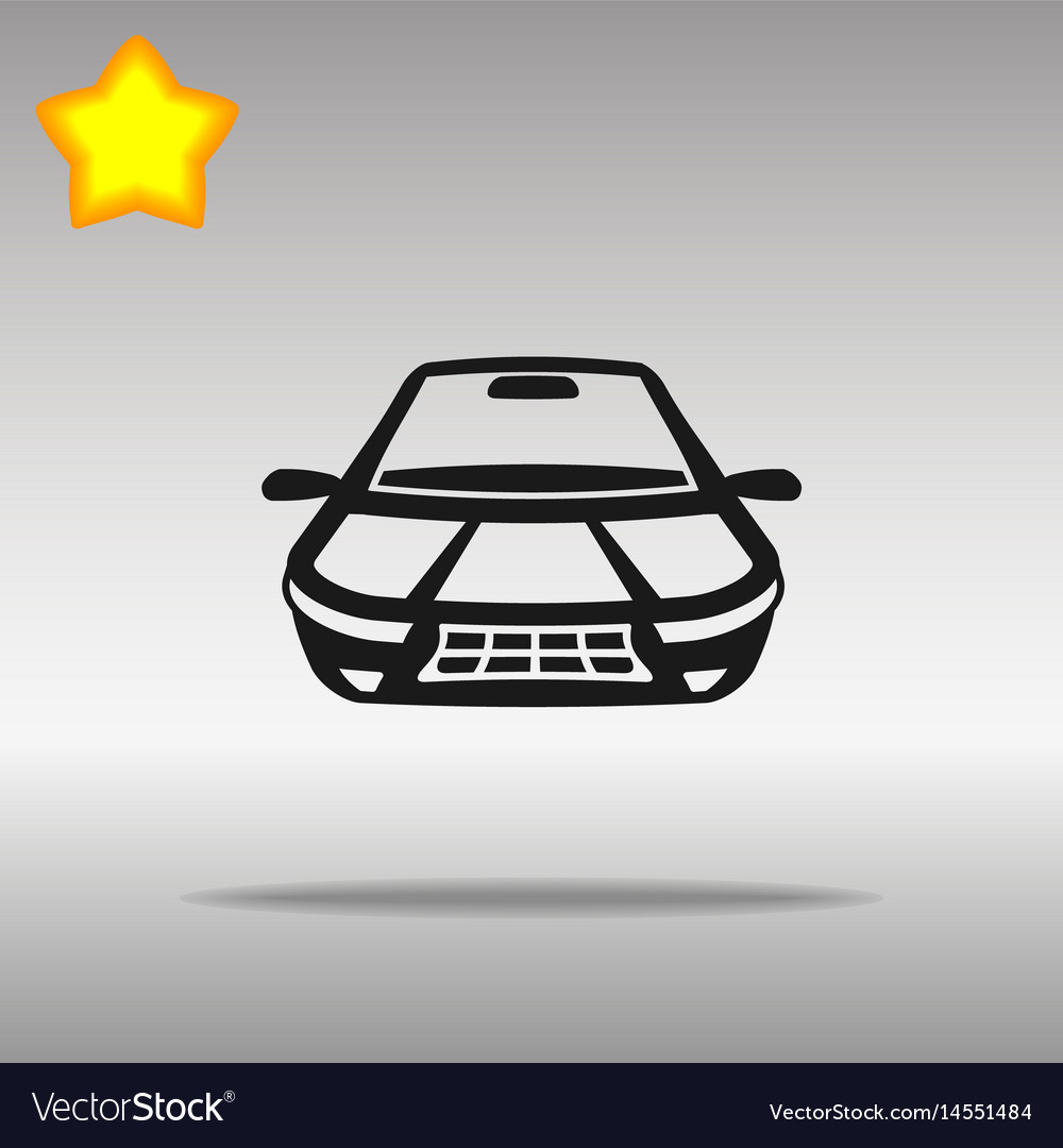 Car black icon button logo symbol
