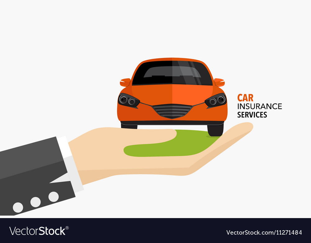 Car insurance business service concept of i