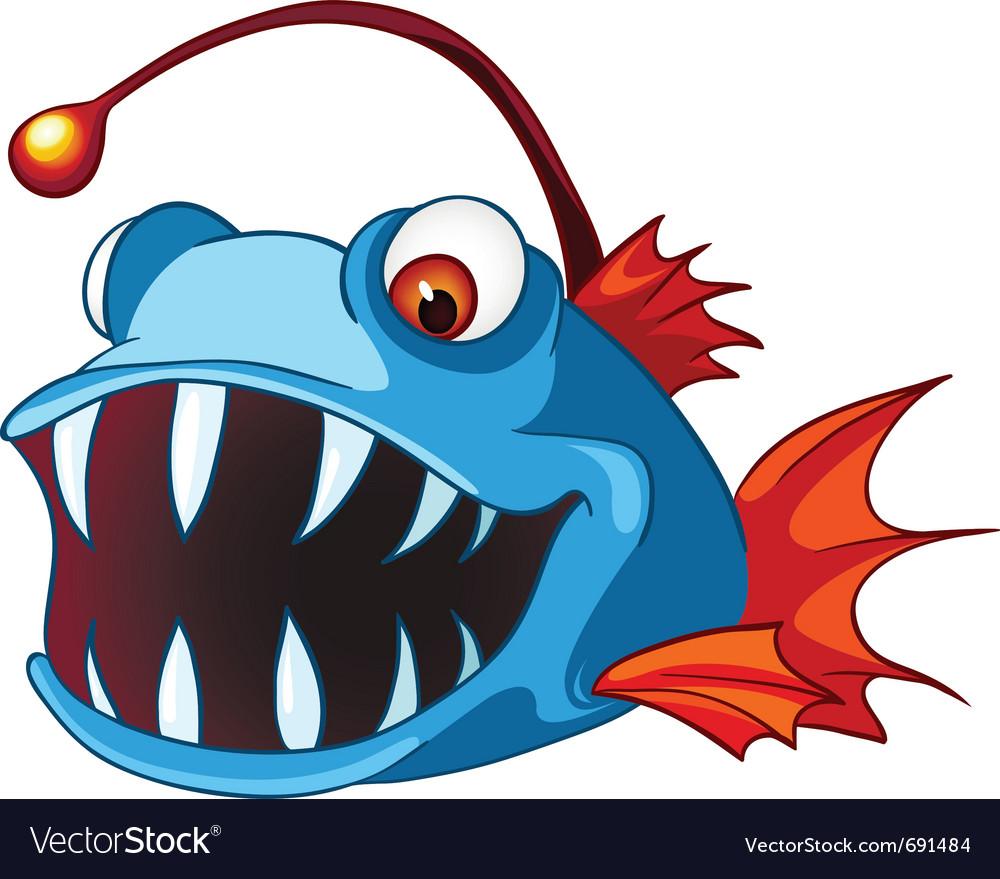 cartoon character fish royalty free vector image rh vectorstock com fish vector art free fish vector art