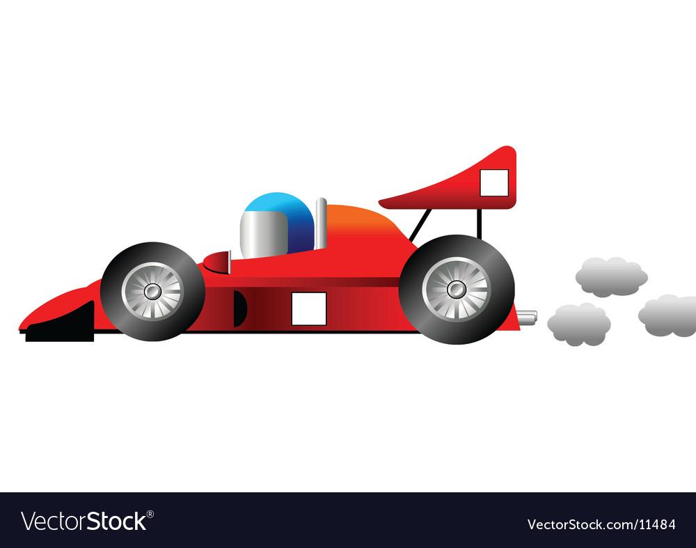 Cartoon Racing Car Vector Image