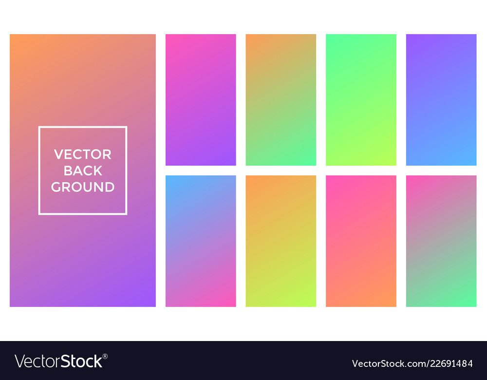 Colors gradient soft backgrounds