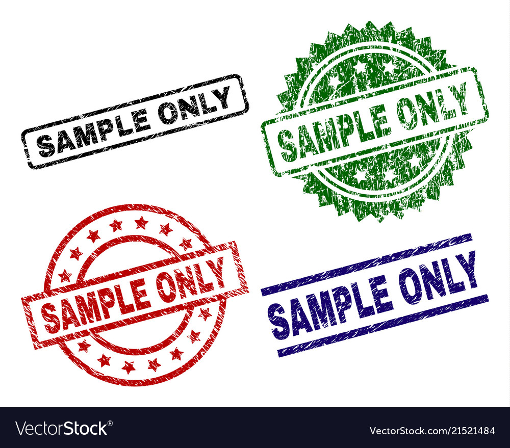 damaged textured sample only stamp seals vector image