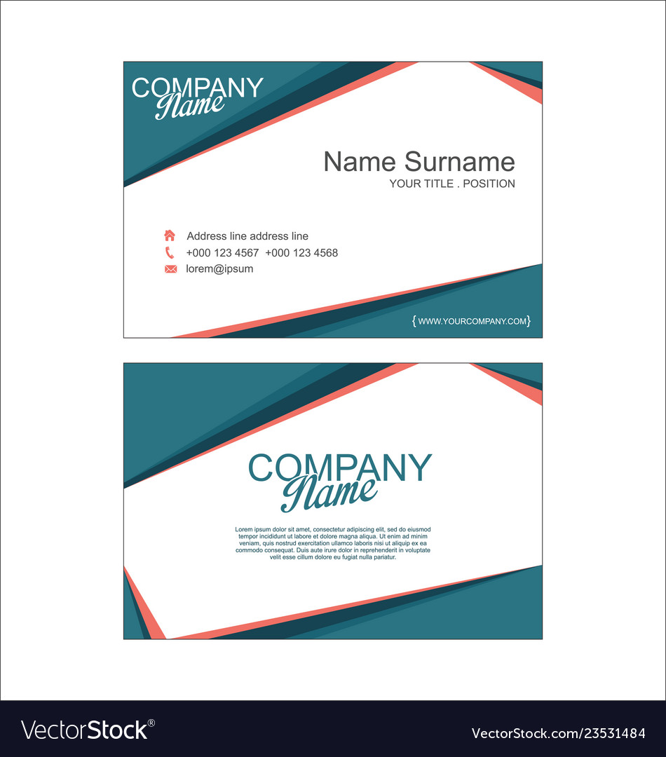 Modern Simple Business Card Template 2