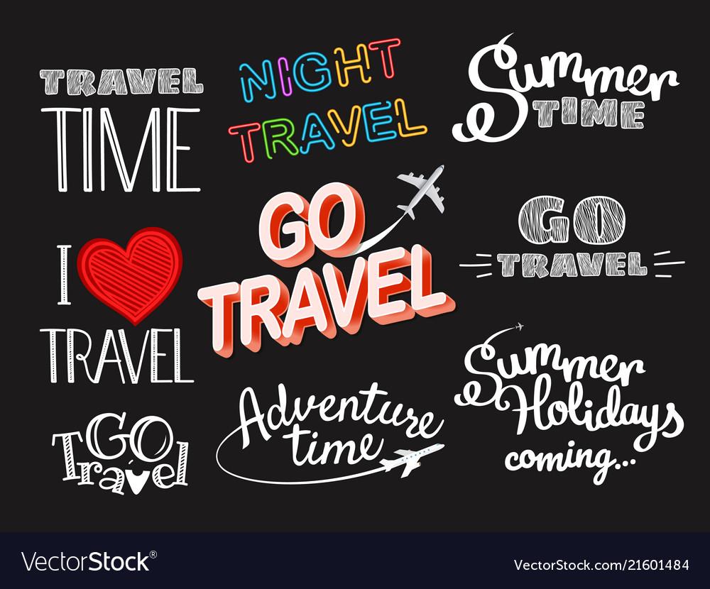 Summer time logo set