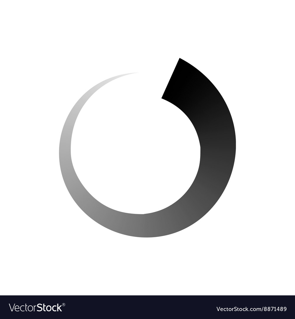 Abstract geometric circle icon simple style vector image