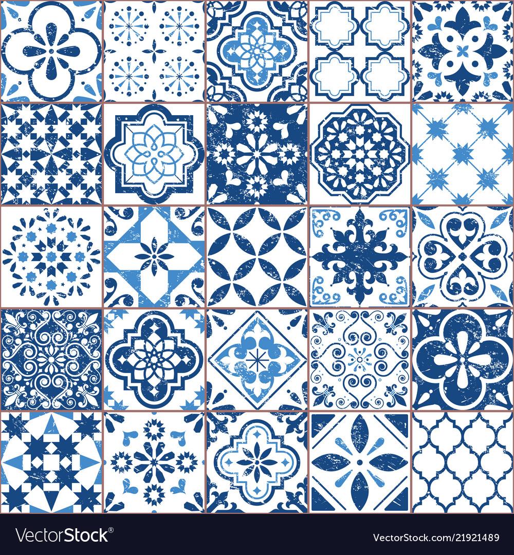 Azulejo tile pattern portuguese or spanish
