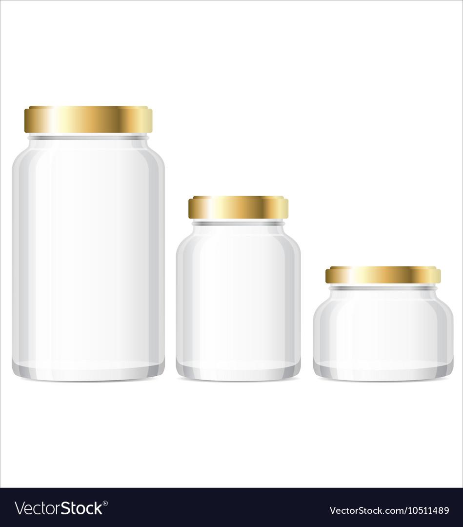 5c5bd88347c Glass Jars Bottles mockup Small Medium Large Vector Image