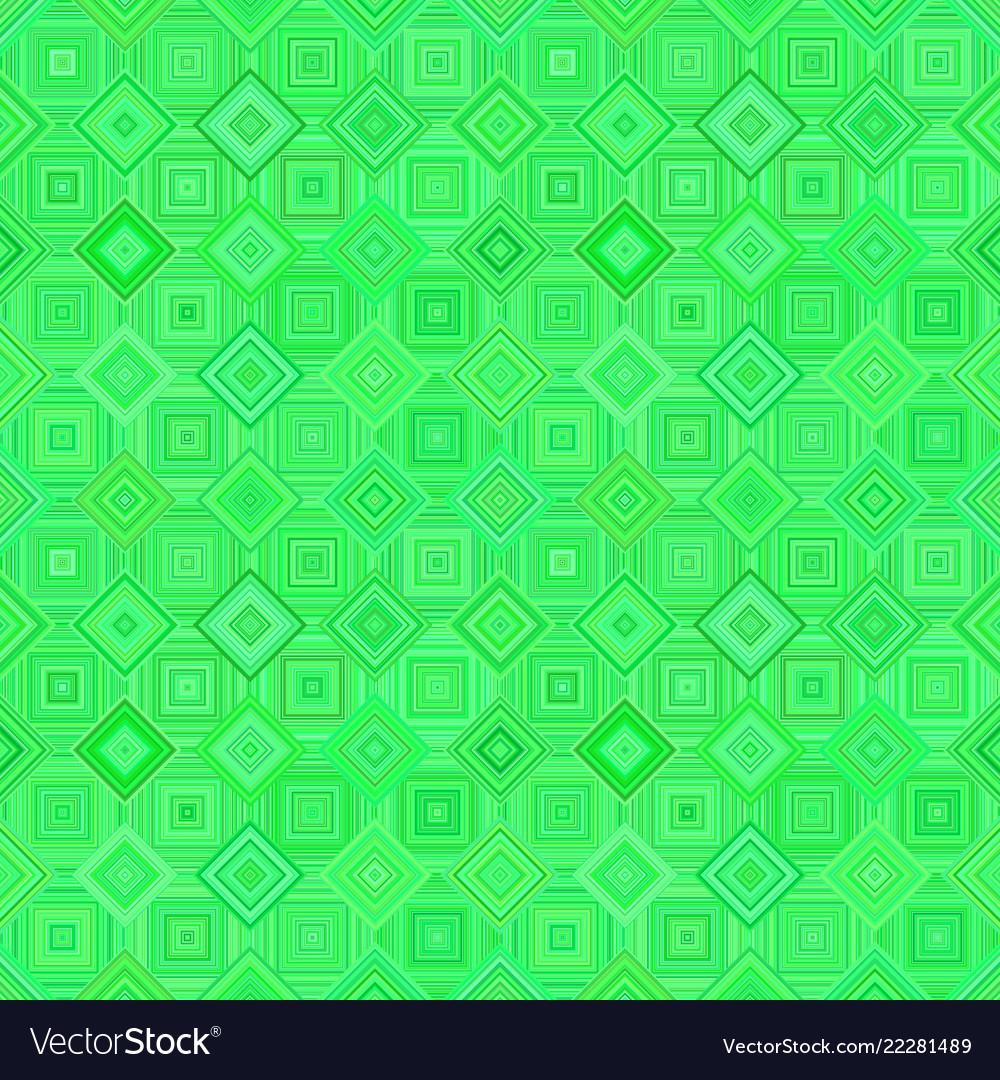 Green seamless diagonal square pattern - mosaic