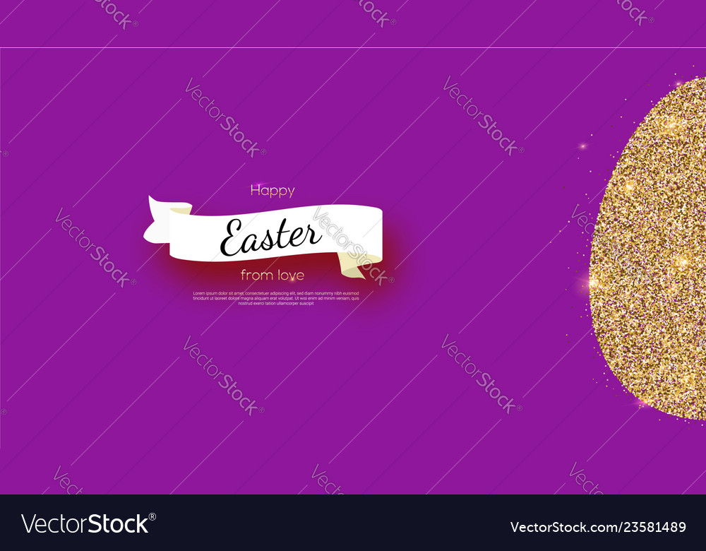 Greetings card with happy easter holidays