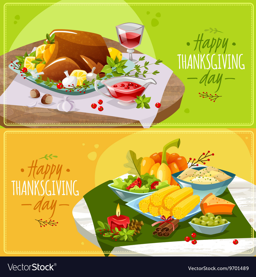 Happy thanksgiving banners
