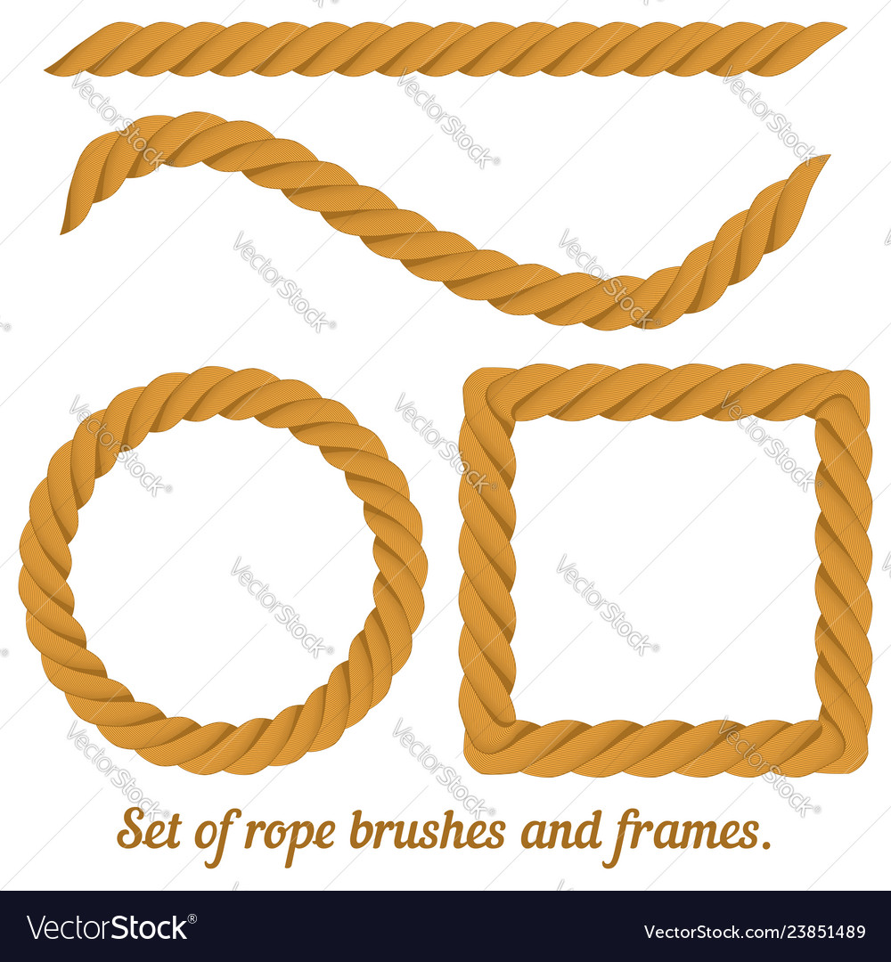 Rope brush and frame