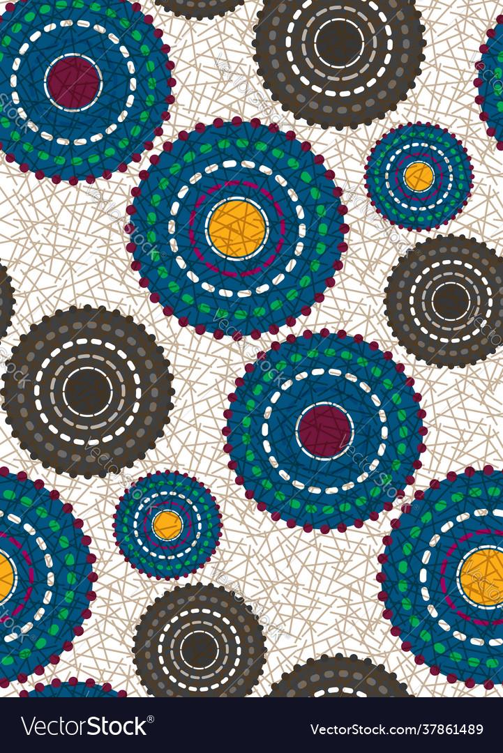 Seamless african wax print fabric ethnic pattern