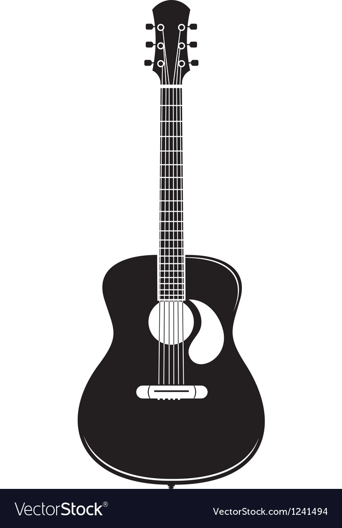 acoustic guitar royalty free vector image vectorstock rh vectorstock com acoustic guitar vector image acoustic guitar vector free download