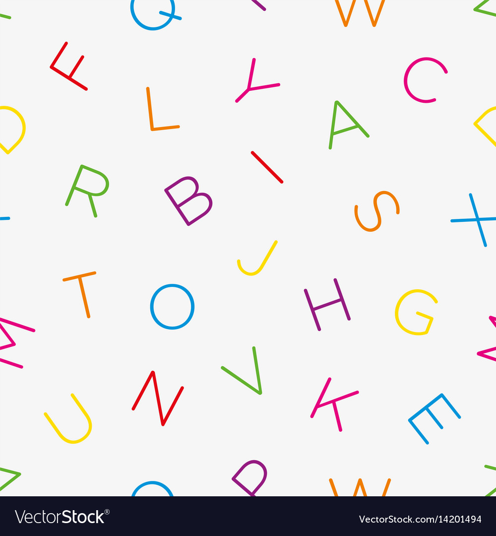 Colorful Alphabet Seamless Wallpaper Pattern
