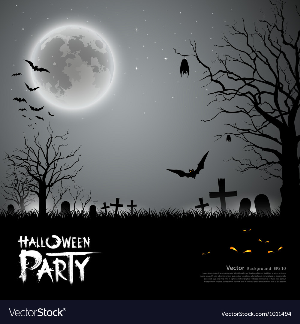 Halloween party scary background