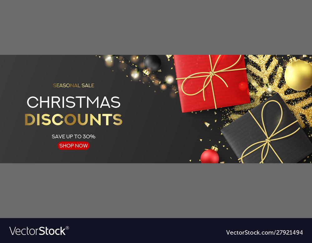 Holiday banner for christmas sale