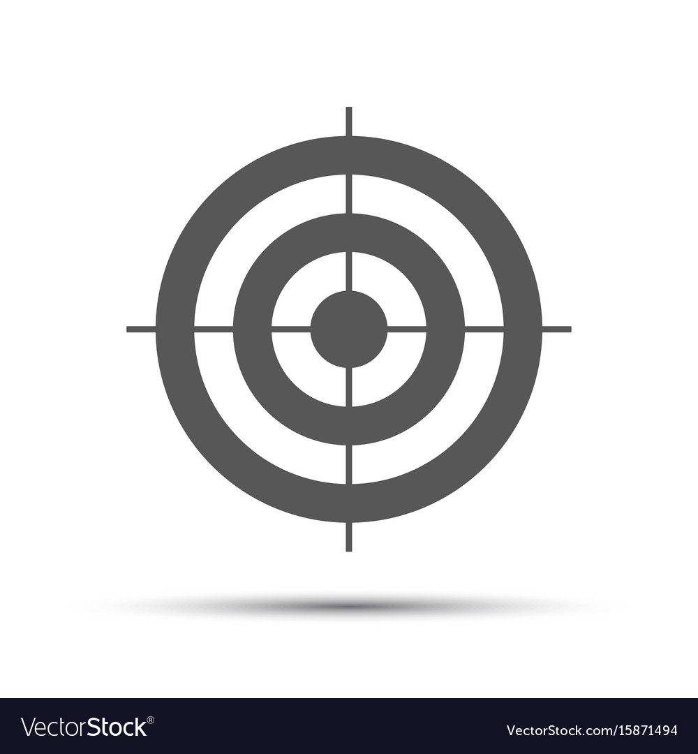 Simple gray pictogram in the shape of a target