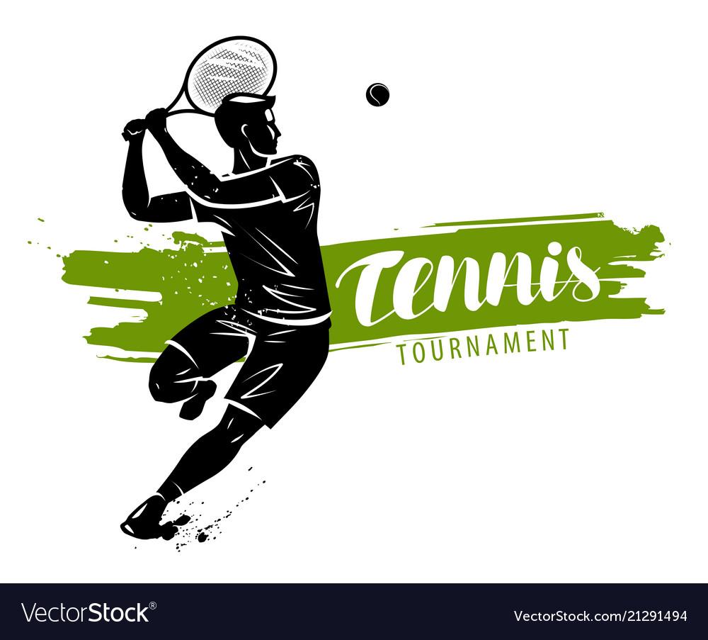 Tennis banner sport concept