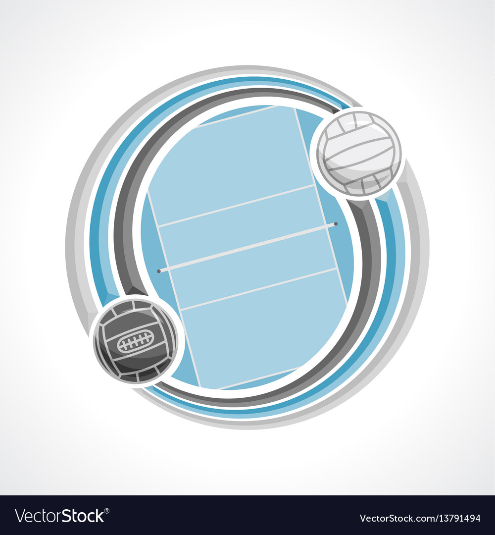 Volleyball court vector image