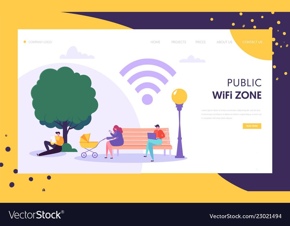 Wifi wireless network landing page template