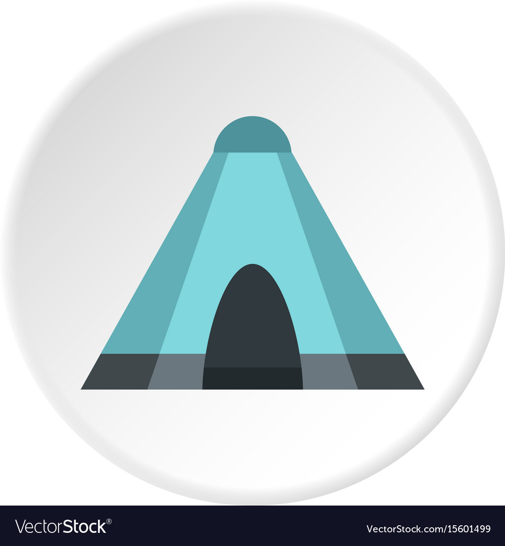 Blue tent icon circle vector image