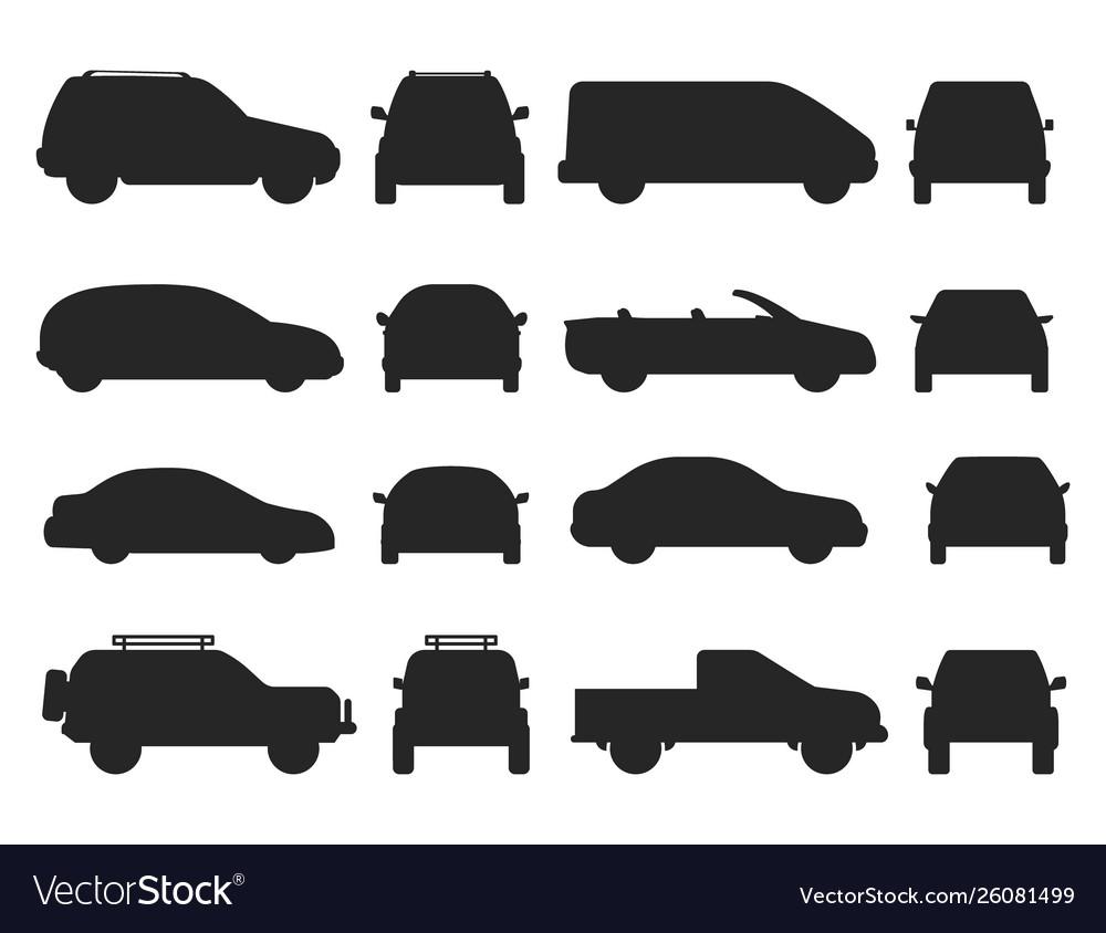 Car auto vehicle transport silhouette type design