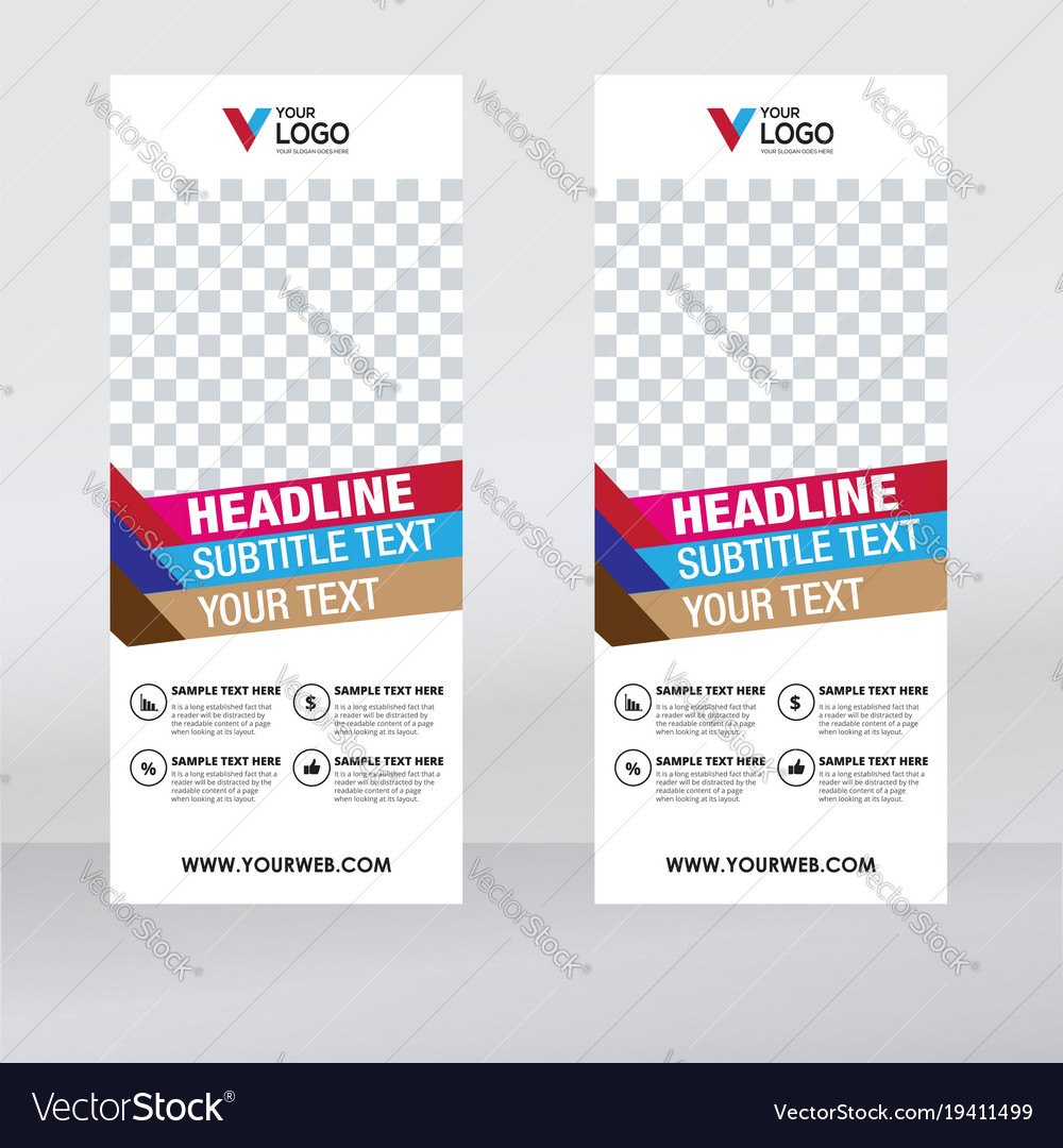 roller banner design template