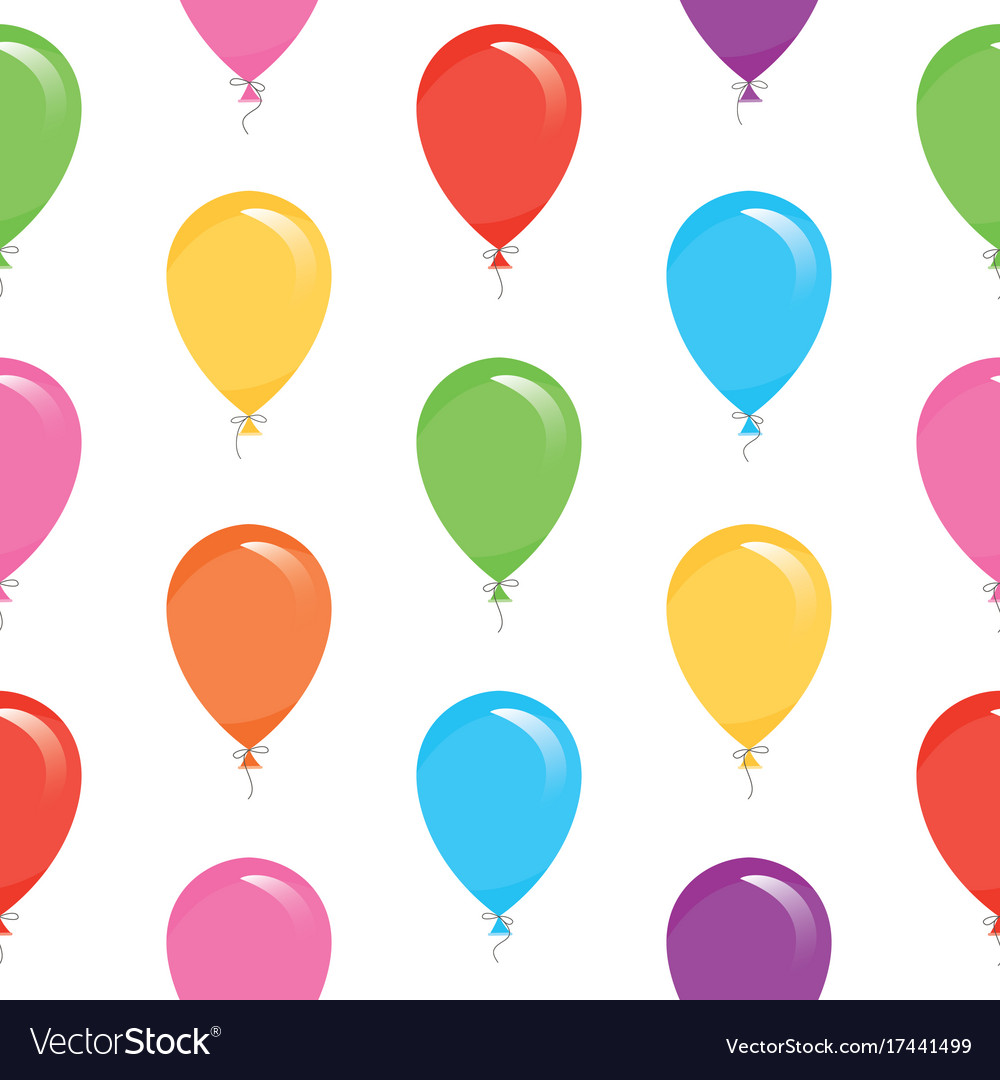 Festive seamless pattern with colorful balloons