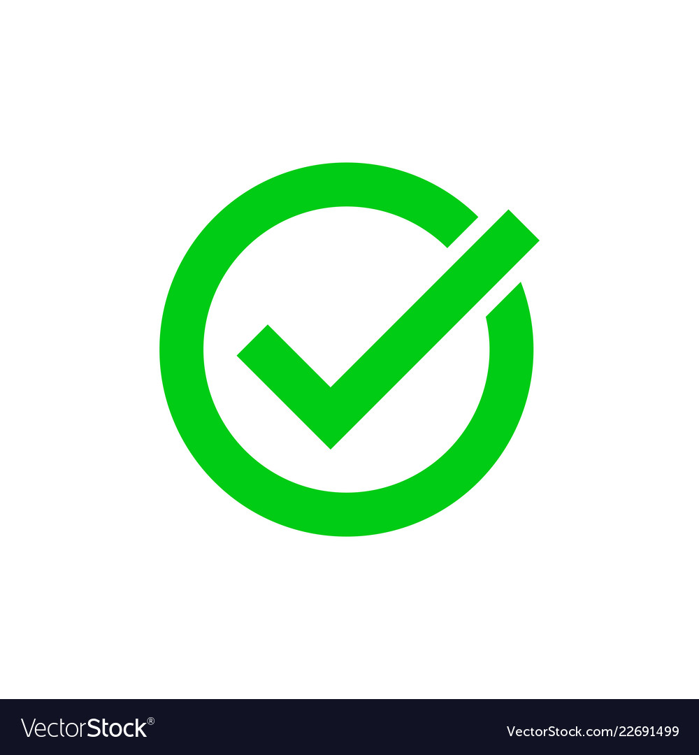 Green tick marker checkmark circle icon