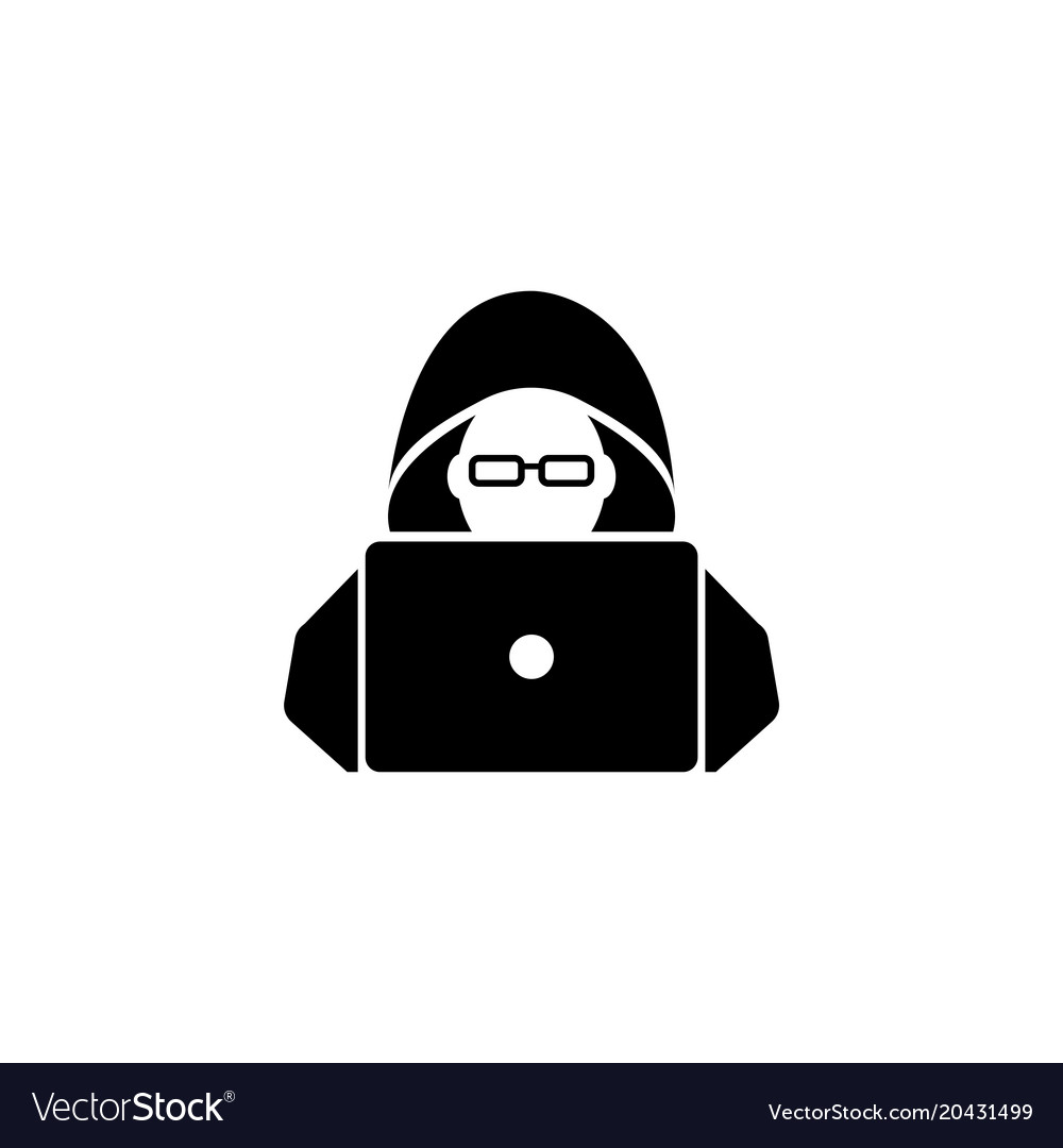 hacker flat icon royalty free vector image vectorstock vectorstock