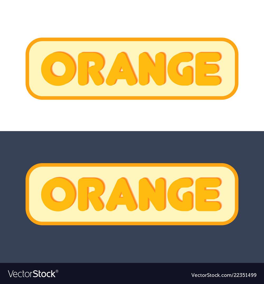 Logo with sign orange fruit