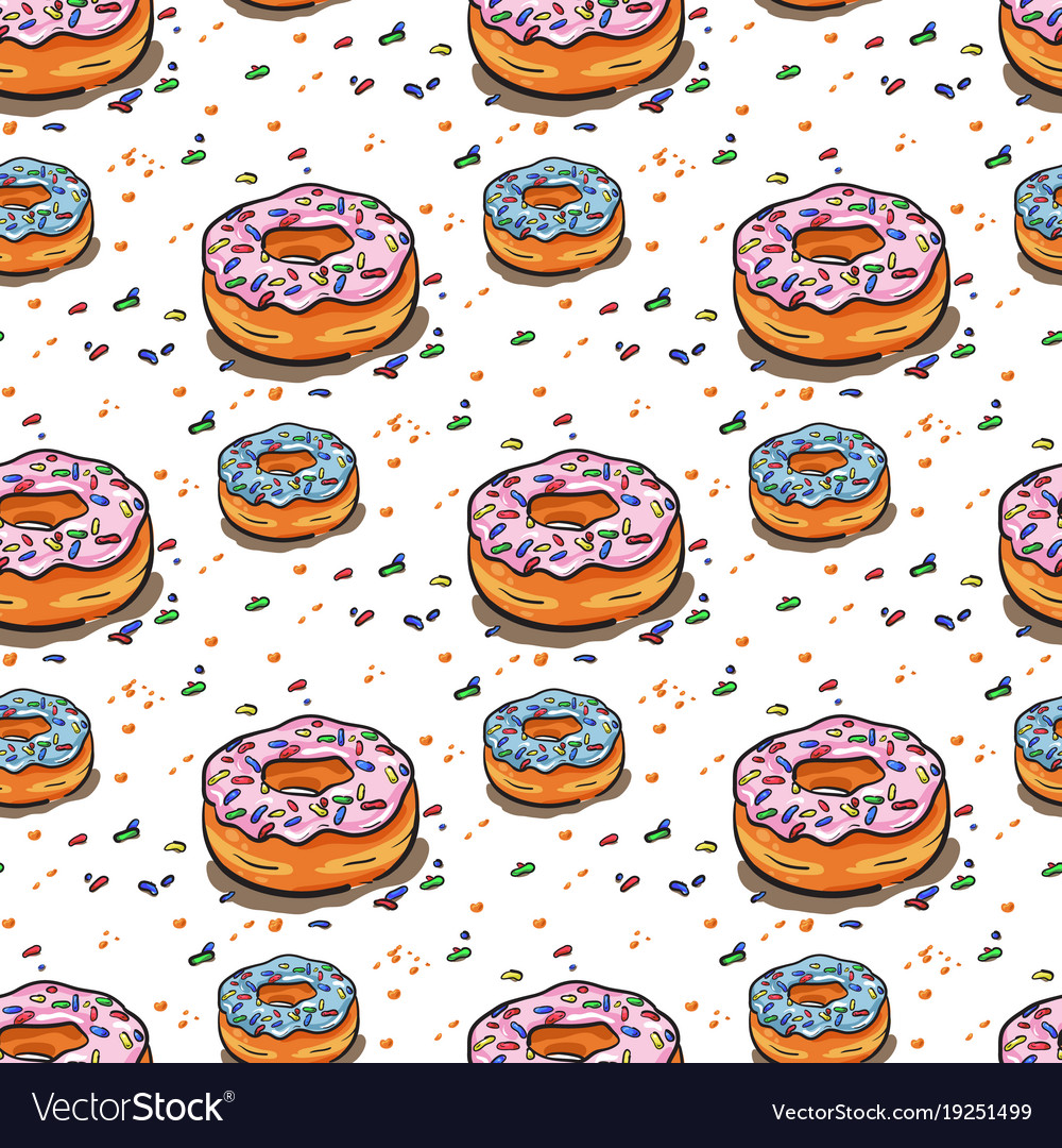 Seamless donut pattern