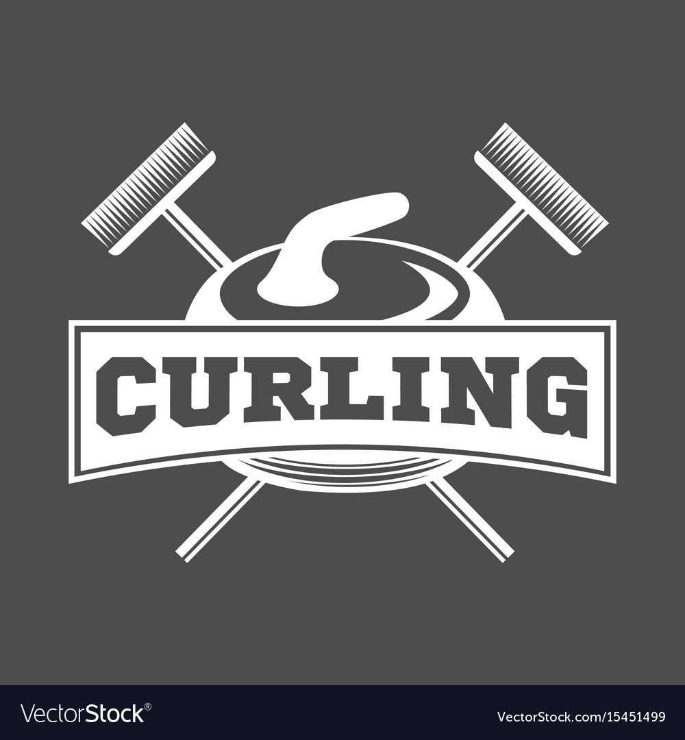 Vintage curling labels and design elements