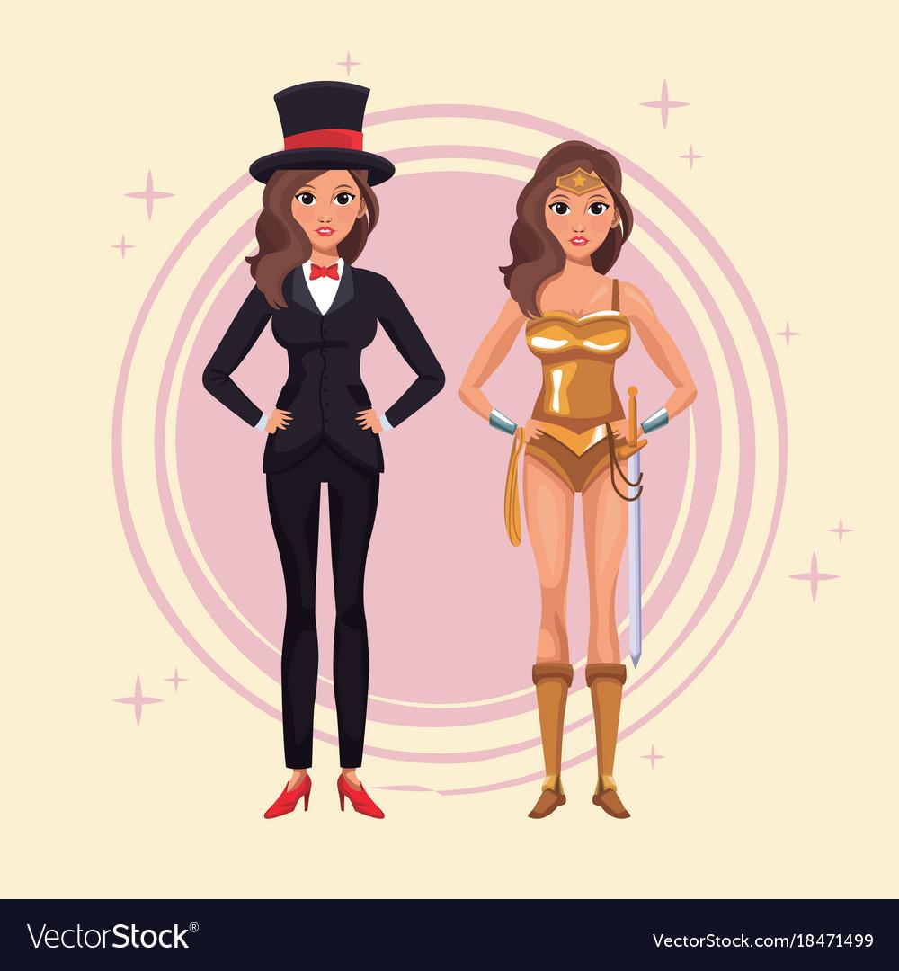 Women cosplay style
