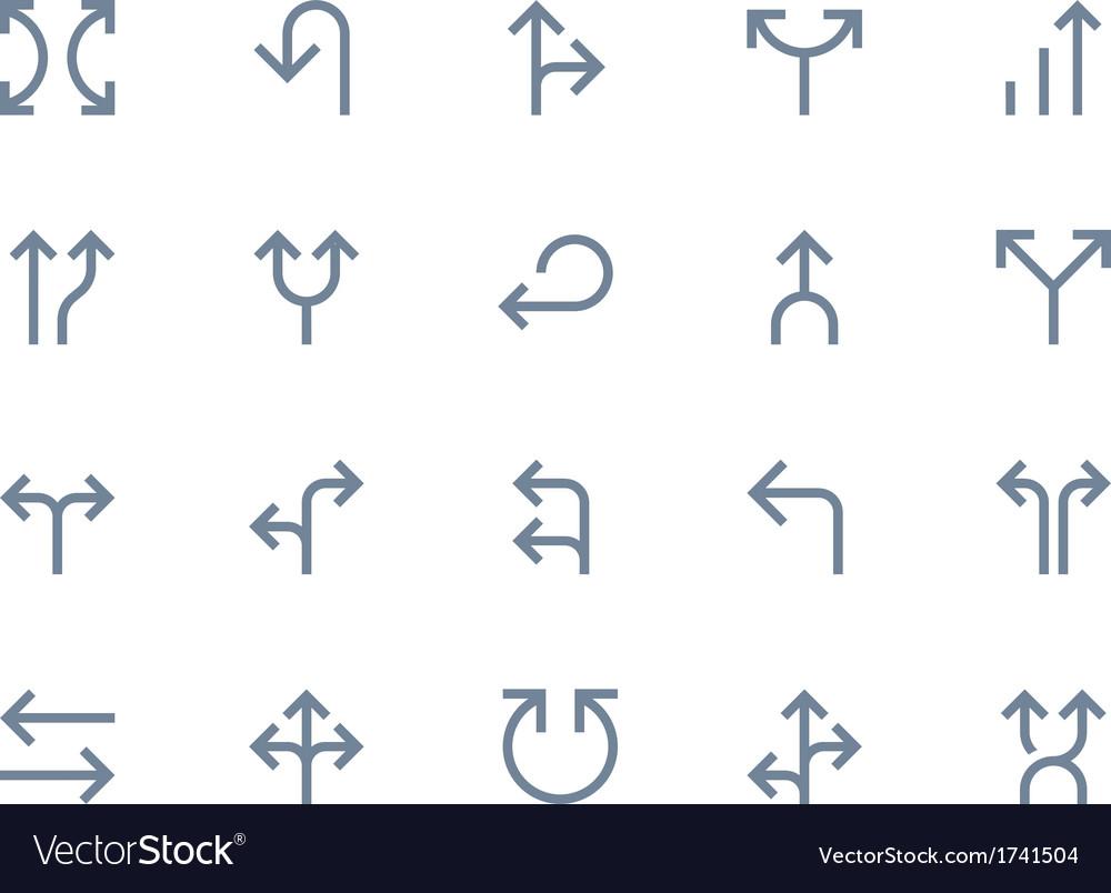 Arrows line vector image
