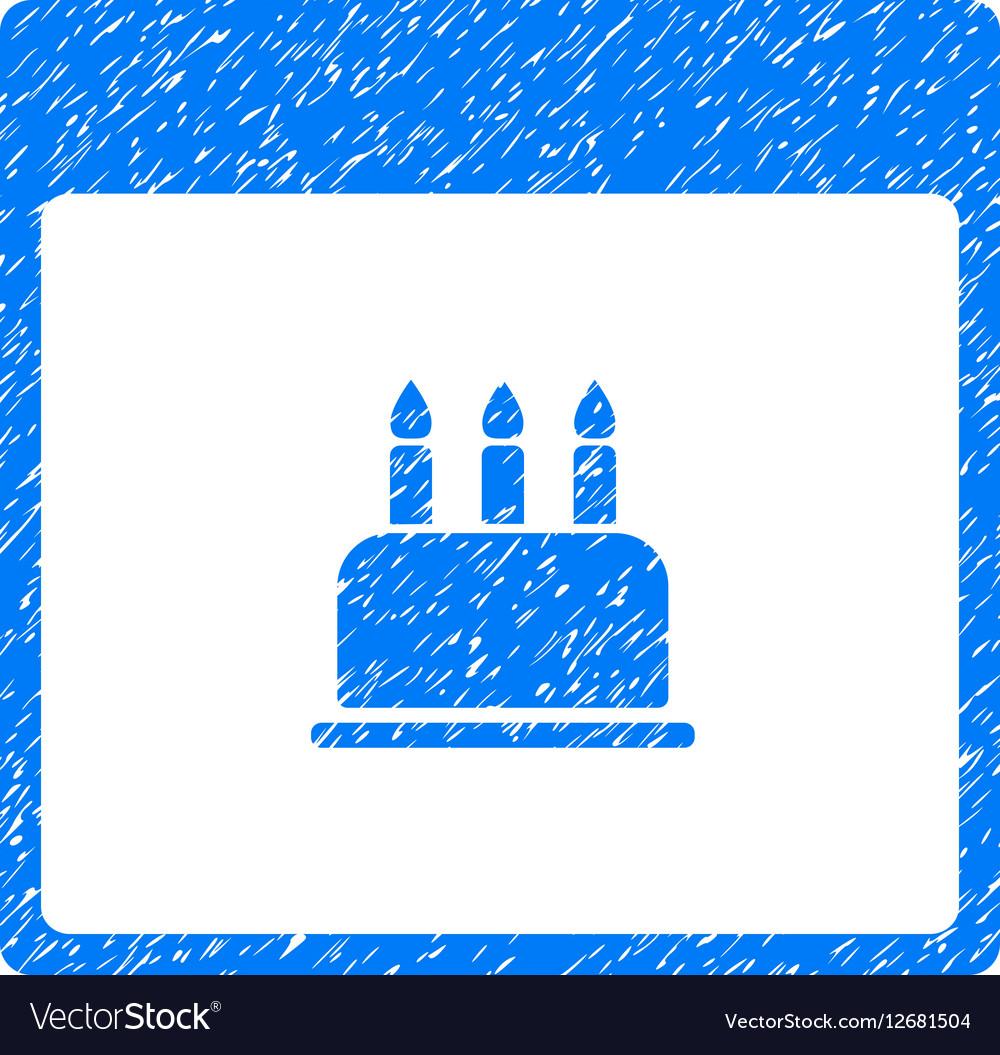 Birthday Cake Calendar Page Grainy Texture Icon