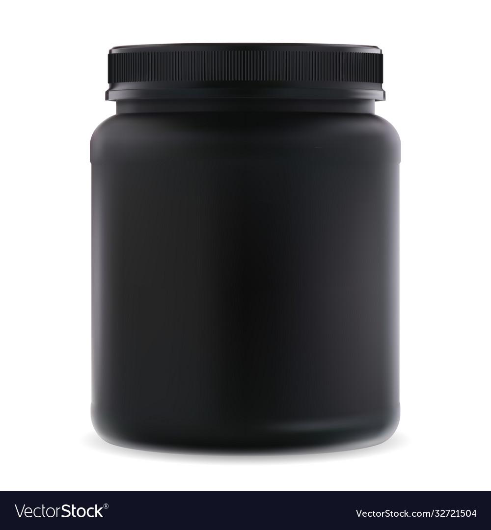 Black supplement jar protein sport 3d container
