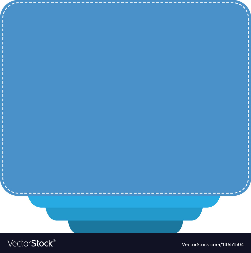 Blue banner on white background blue empty retro vector image