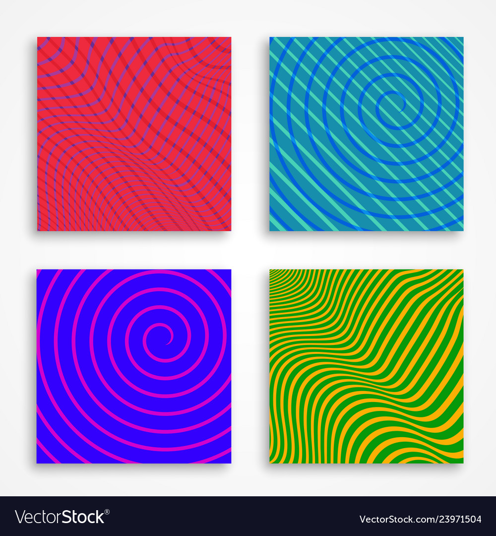 Bright colored covers or backgrounds for modern