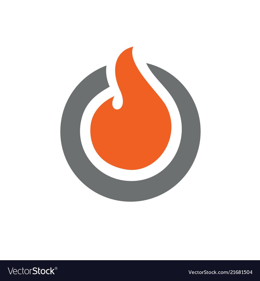 Circle fire logo or icon design
