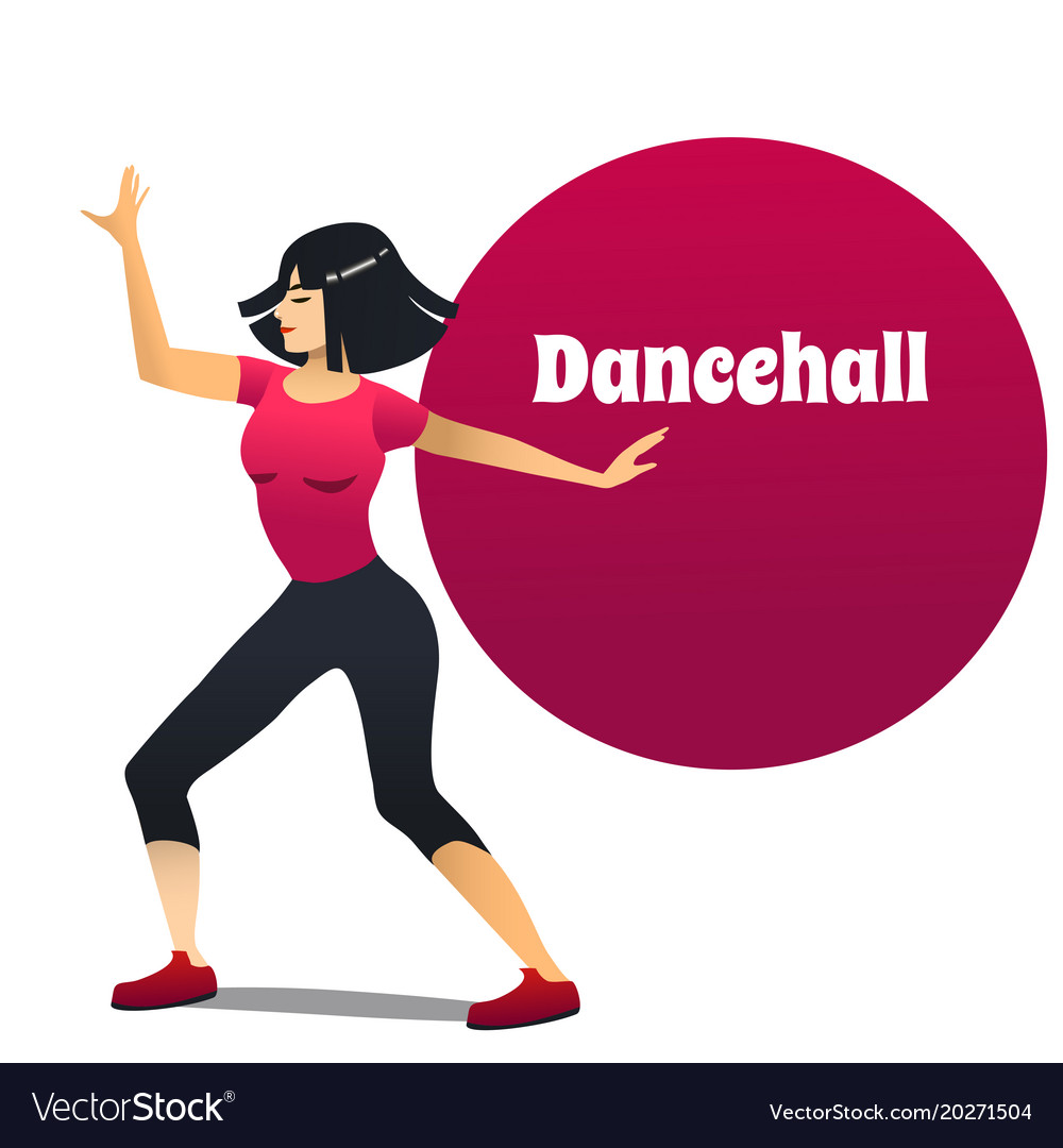 Dancehall dancer in cartoon style
