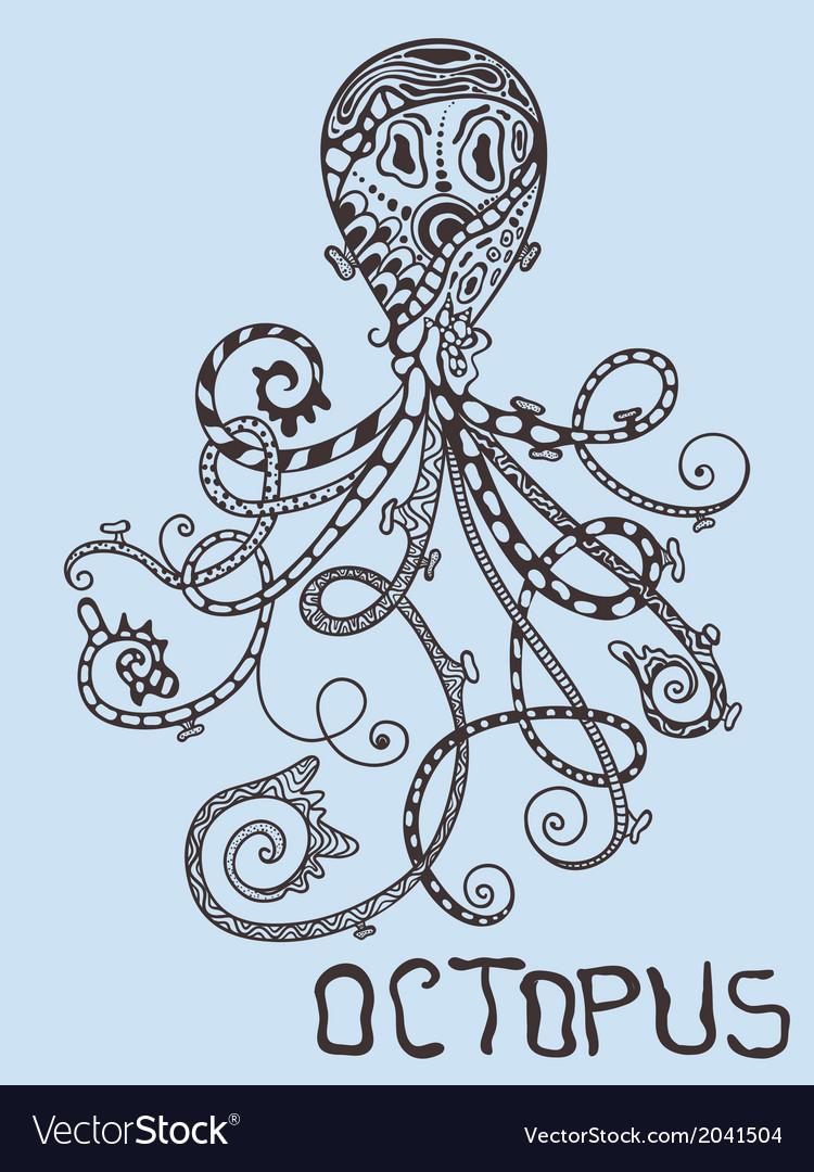 Hand drawn octopus