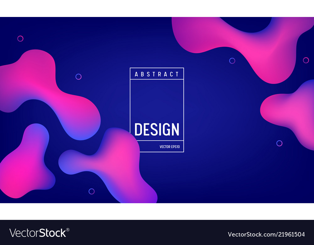 Liquid gradient color background design fluid