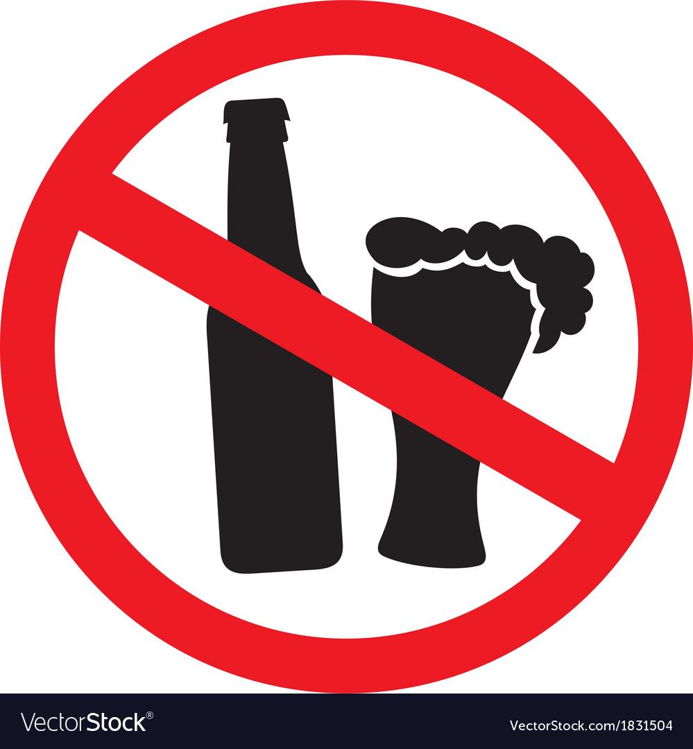 No alcohol sign vector art - Download vectors - 1831504