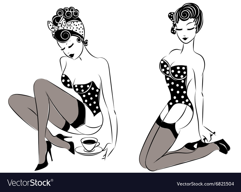 Vector pinup clip art the message