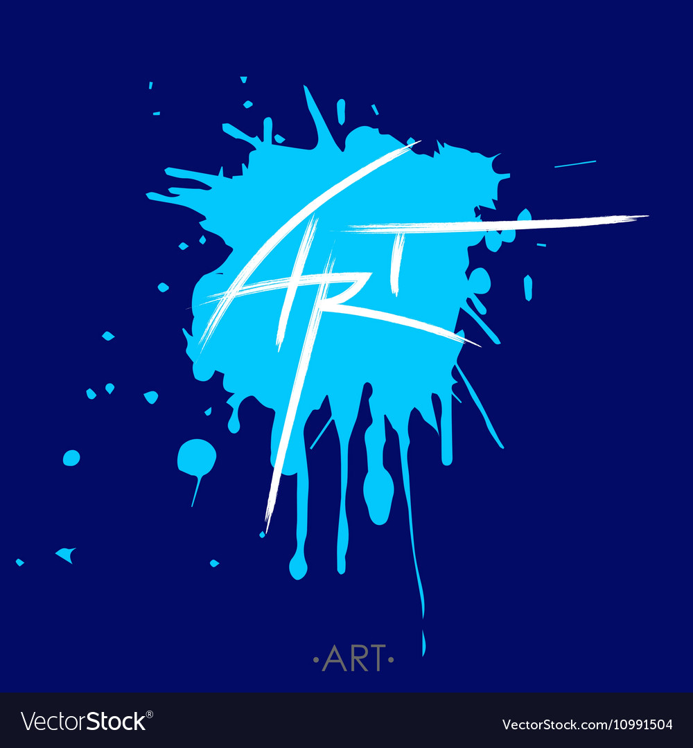 stylized written word art lettering template vector image