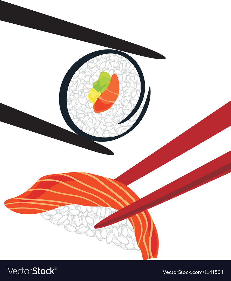 sushi royalty free vector image vectorstock rh vectorstock com sushi victor ny sushi victoria gardens