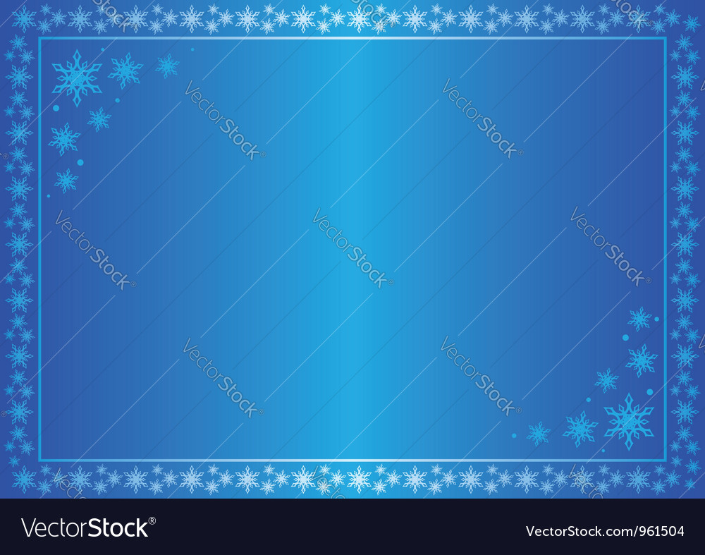 Winter blue frame with snowflakes