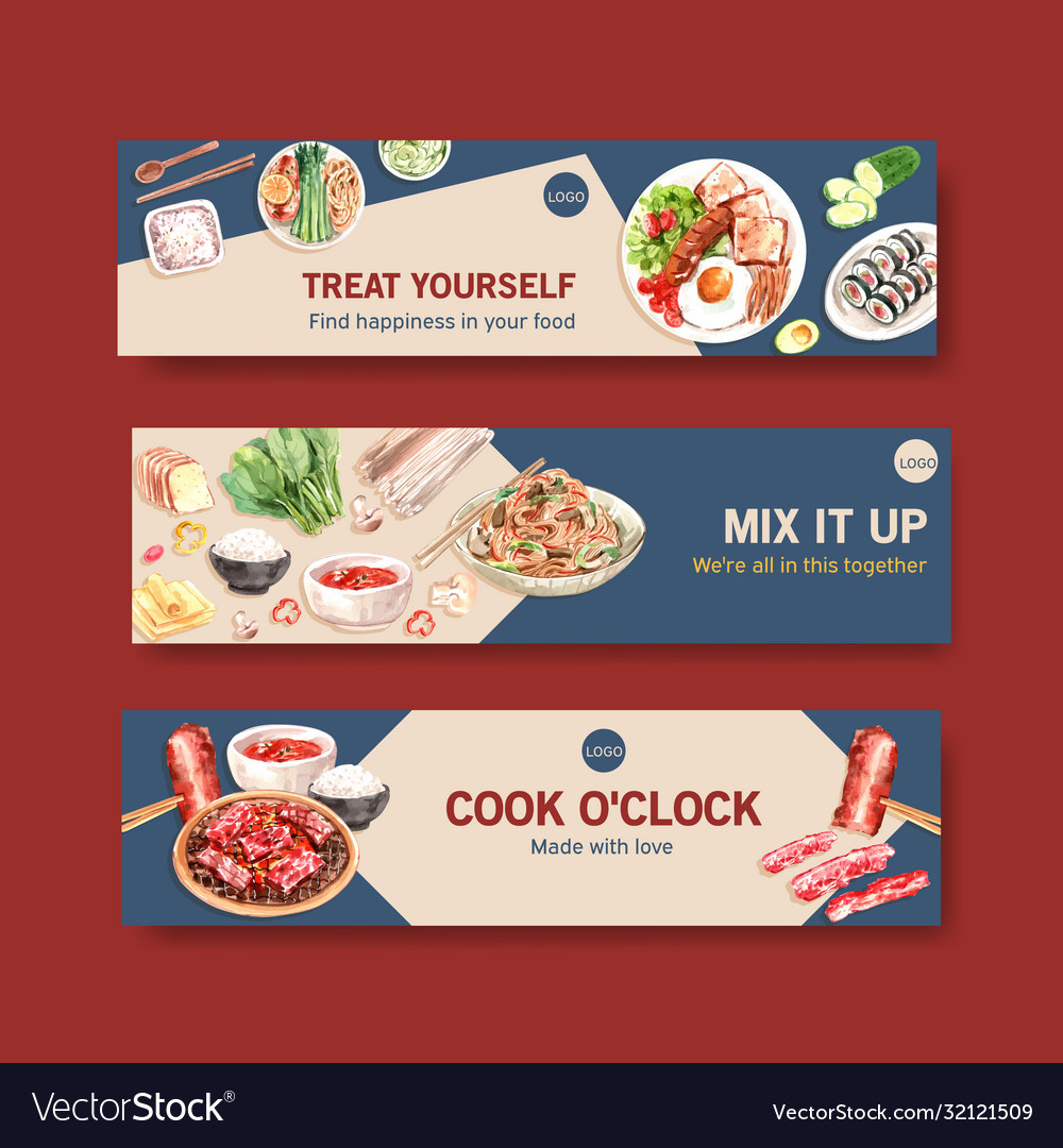 Cooking Banner Template Design For Brochureweb Vector Image